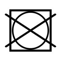 symbool niet in droogrommel