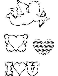 Stippelpatronen Valentijn voor hotfix steentjes