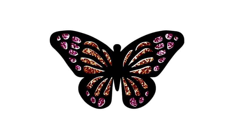 Vlinder in SVG
