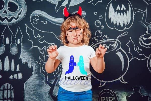 strijkapplicatie Halloween spoken