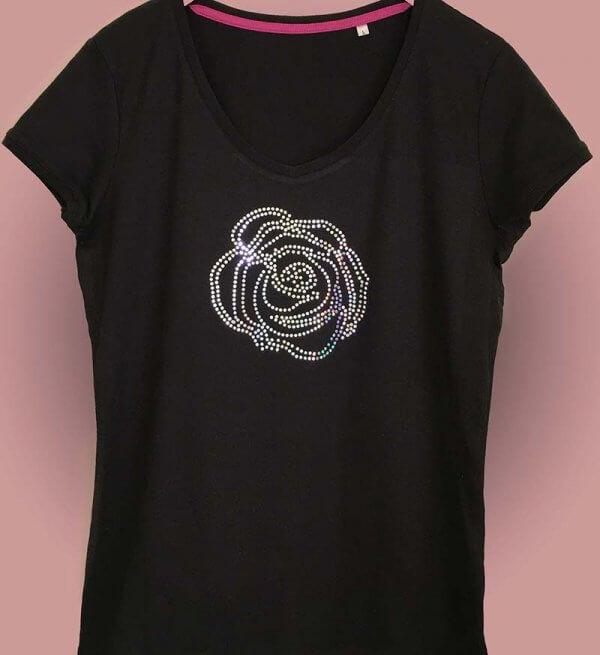 shirt met roos