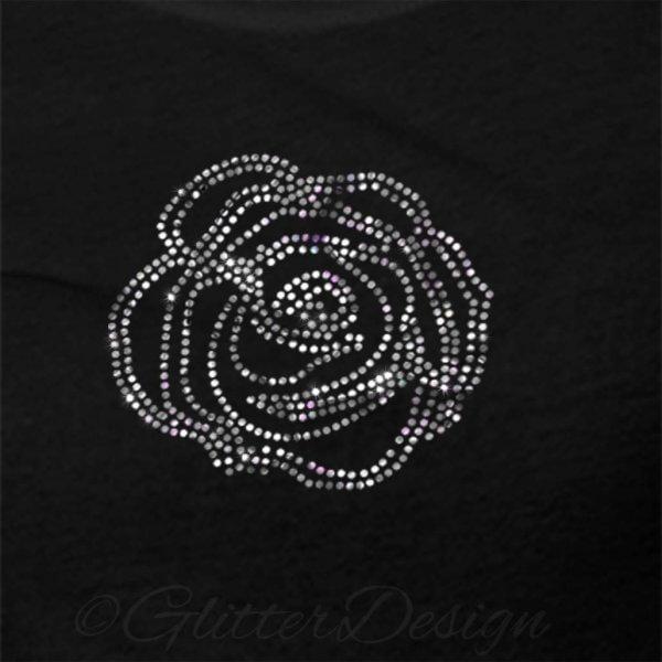 Hotfix patroon Roos op shirt