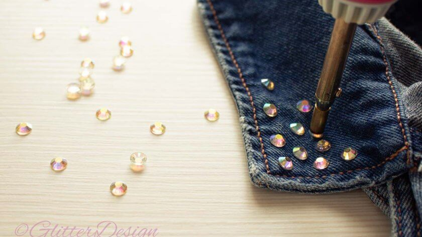 How to use hotfix rhinestone applicator