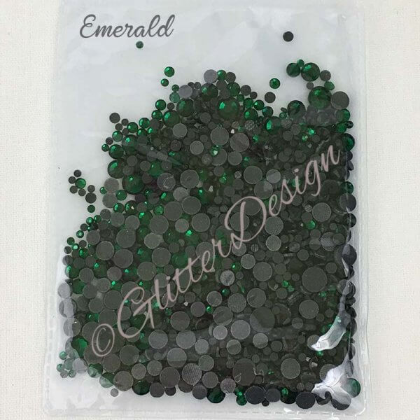 Strass steentjes Emerald
