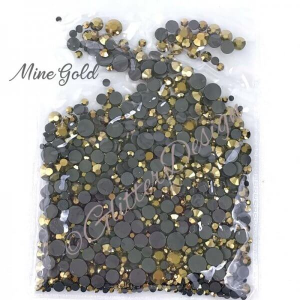Gouden Strass steentjes