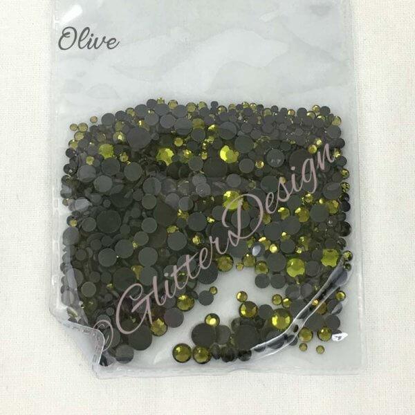 Strass steentjes Olive
