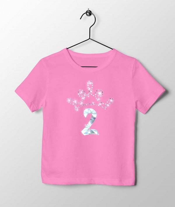 Roze Verjaardag T-shirt 2 jaar