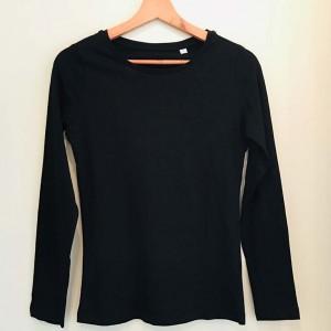 Zwart T-shirt Lange Mouw Dames