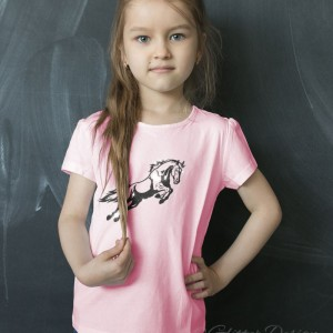 Kinder T-shirt met paard