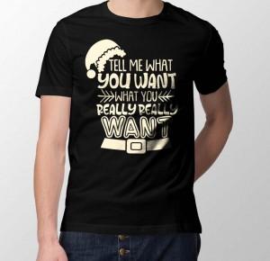 Zwarte Grappige Kerst shirt Heren